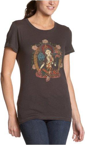 Lucky Brand Women's Tara Buddha Tee,Worn Black,Medium