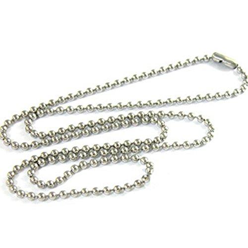 Sungpunet 10 piezas de acero inoxidable 75 cm cadena de bolas militares...