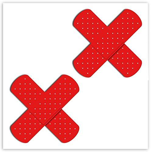 SkinoEu® 2 stuks vinyl stickers autostickers pleister hechtpleister kruis verbandstickers spiegel auto motorfiets fiets helm raam deur tuning B 177