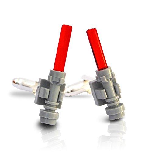 LEGO® Lichtschwert Manschettenknöpfe (rot) Krieg der Sterne Hochzeit, Groom, Herren Geschenk