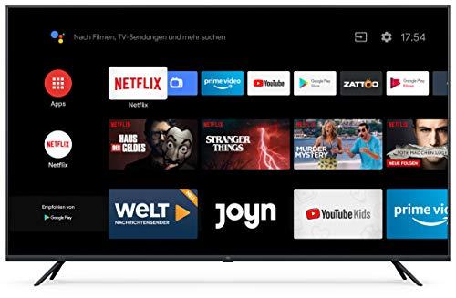 """Xiaomi Mi Smart TV 4S 65"""" (4K Ultra HD, Triple Tuner, Android TV 9.0, Fernbedienung mit Mikrofon & Netflix)"""