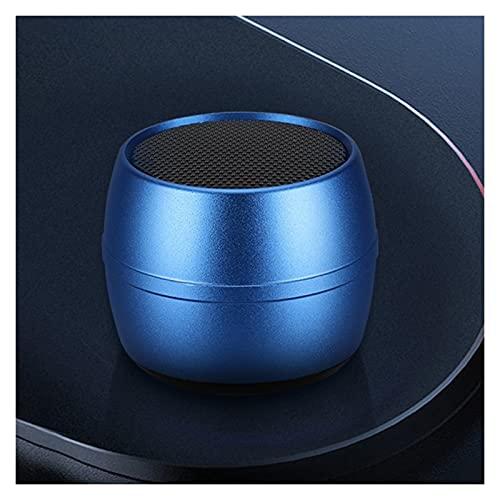 SCYMYBH Altavoz Bluetooth inalámbrico Subwoofer portátil Mini Bluetooth pequeño altavoz con cordón (color azul)