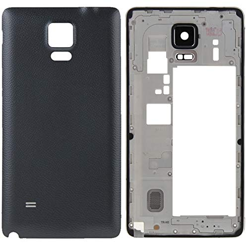 High-end Best Replacement Parts Full Housing Cover(Middle Frame Bazel Back Plate Housing Camera Lens Panel + Battery Back Cover) Compatible With Samsung Galaxy Note 4 / N910V ( Color : Black )
