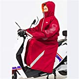 QINSONG Cyclisme Costumes, Unisexe sécurité équitation Froid Vêtements, vélo électrique Pare-Brise, Hiver Plus Mototourisme Velvet Épaississement Pare-Brise, de / / imperméable/Snowproof Batterie