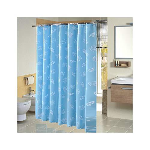 KnSam Duschvorhang Wasserdicht Anti Schimmel Waschbar mit 12 Duschvorhangringe See Blau Bad Vorhang für Badezimmer Badewanne 120 x 180 cm