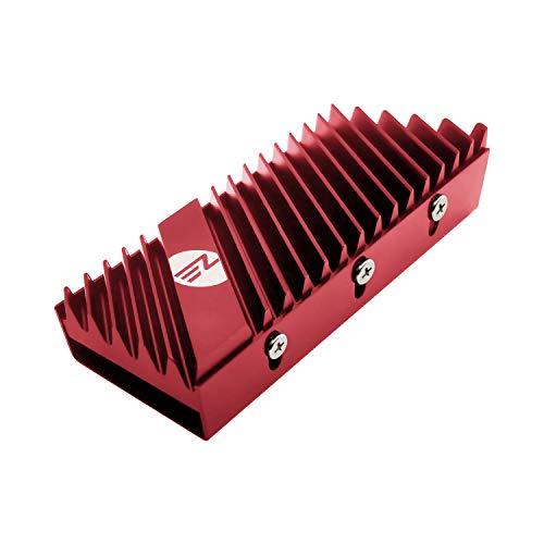 EZDIY-FAB M.2 2280 SSD Kühlkörper, doppelseitiger Kühlkörper, Hochleistungs-SSD-Kühler für PCIE NVME M.2 SSD oder SATA M.2 SSD-Rot