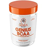 Genius Bcaa Powder with Focus & Energy – Multiuse Natural Vegan Preworkout Bcaas for Mental Clarity and Faster Muscle Recovery, Orange, 10.09 oz (286 g) packaging may vary