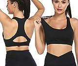 adome reggiseno sportivo donna reggiseno yoga 1 confezione allenamento imbottito per ragazze top gilet elastico senza fibbia design supporto ad alto impatto per yoga palestra allenamento fitness