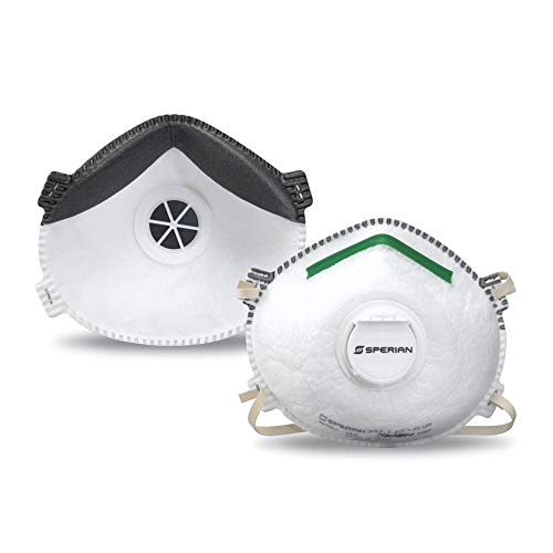 Honeywell Retail Honeywell NIOSH-Approved N95 Respirator Mask with Exhalation Valve for Airborne Particulates, 10-Pack (RWS-54007), White