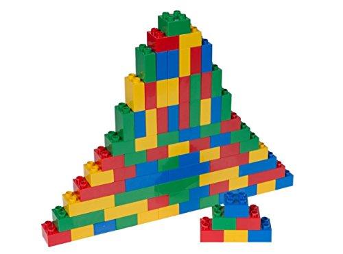 Big Briks Basic Builder Set #1 - Premium-Bausteine - kompatibel mit großen Bausteinen Aller führenden Marken - nur für Steine mit großen Noppen geeignet - 84 Stück - Blau, Grün, Rot, Gelb