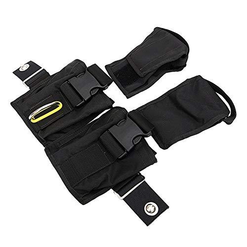JLZK Seguridad Peso del Buceo con escafandra Bolsa de Plomo llenador de Bolsas Bolsillos de Almacenamiento Compacto Tech Buceo Bolsa Precisión (Color : Black)