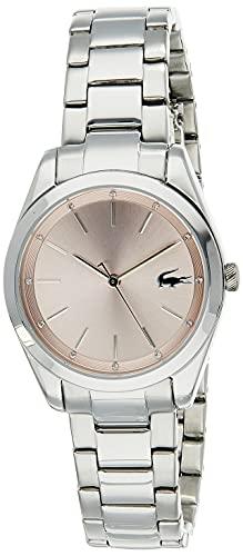 Lacoste Womens Analog Quartz Uhr mit Edelstahl Armband 2001176