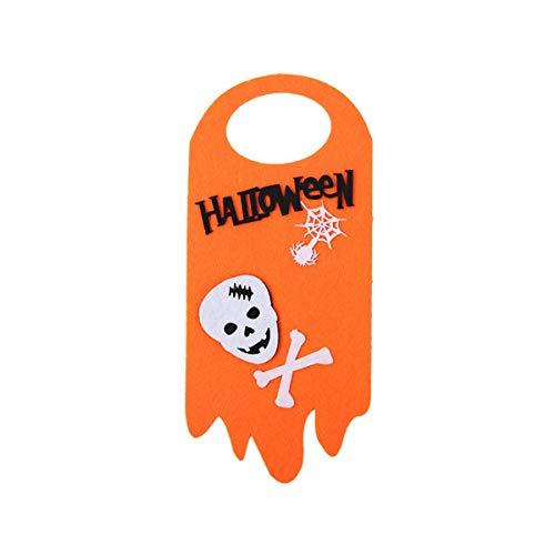 Totkakka Suministros de decoración de Fiesta de Halloween, Colgante de Puerta de Gato Fantasma de Calabaza Colgante de Halloween, Suministros de Fiesta temática de Halloween