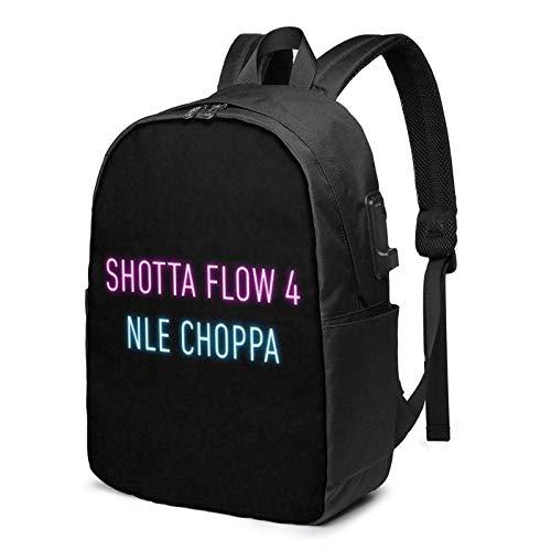 IUBBKI Bolsa para computadora mochila USB Nle Chopp Shotta Flow 4 Business Travel Laptops Backpack,Unisex College Commuter Usb Backpack