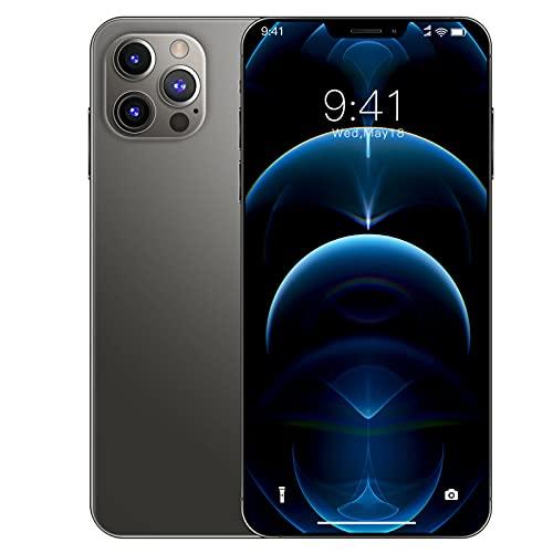 JYSSH i12Pro MAX Teléfono Móvil, 6,7 Pulgadas 8GB RAM+256GB ROM Batteria de 5000mAh 24MP+48MP Cámara Triple Smartphone Android 10.0 Dual SIM Soporte de Face ID ,WiFi+BT+FM+GPS,A-UK