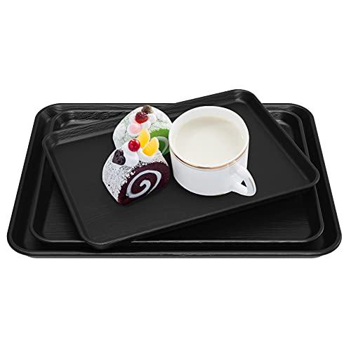 Bandeja rectangular de estilo japonés, bandeja para servir práctica bandeja para servir Clearing Gastro Bandeja antideslizante borde negro