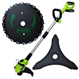 Chainsaw Tooth 9 Inch Brush Blade 20 Tooth 10000 RPM for St-ihl Echo Trimmer, Cutter, Weed Eater Lawn Mower Circular Saw Blade Electric Weeder Accessories with 10''×3 Brush Cutter Blade
