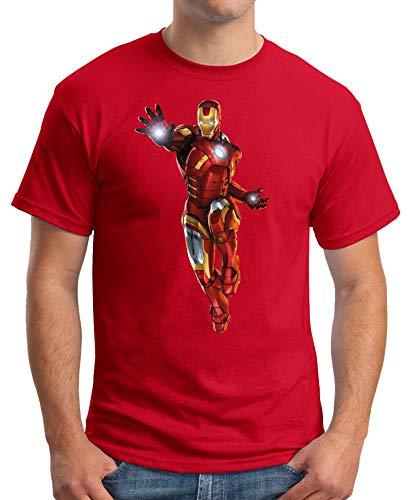 The Fan Tee Camiseta de Hombre Iron Man Los Vengadores Hulk Stark Industries 007 XXL