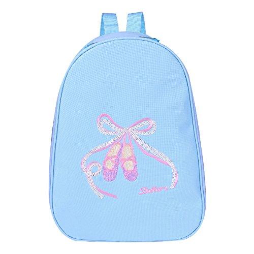 IEFIEL Mochila Bolsa de Ballet Danza Deportes para Niña Bolsa Infantil Personalizada Bordada Princesa Niña Azul talla única