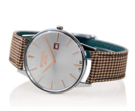 Watchmaker Milano Orologio Uomo Slim da Polso Vintage al Quarzo con Cinturino in Tessuto Fatto a Mano (WM.00A.09)
