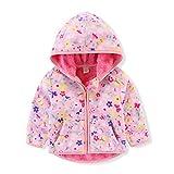 Kids Baby Warm Girls Boys Cartoon Winter Fleece Jackets Sweatshirt Hooded Coats Infant Coat Jacket Newborn Long Sleeve Warm Hoodie Snowsuit Outfits 1-6Years