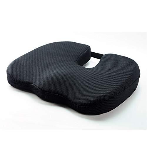 WDFDZSW Cuscino Memory Foam, Regolabile Confortevole Pad Car Seat, Adulto Car Seat Booster Cuscini for Office Home Auto Black (Color Name : Black)
