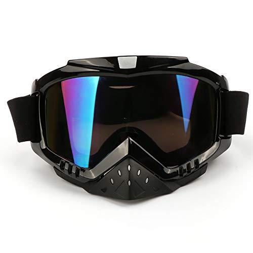 QXFJ Cycling Sunglasses Gafas para MTB Material De La PC ProteccióN Nasal ExtraíBle Correa Ajustable Gafas De Motocicleta Gafas De Ciclismo MáScara Gafas Gafas para Exterior