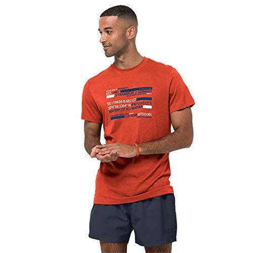 Jack Wolfskin Established In T-Shirt Chili XL