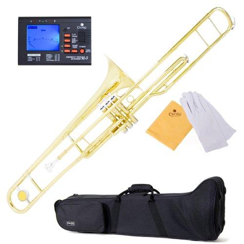 Mendini MTB-40 Intermediate B Flat Tenor Valve Trombone with Monel Valves