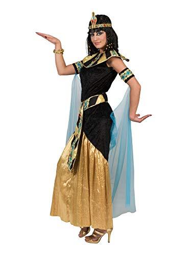 Fasent-Party® Disfraz largo de reina egipcia para mujer, talla 44/46