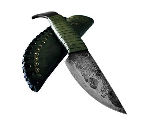 Bird Head -Toferner Handgeschmiedetes Federstahl Messer im keltischen Stil - Scharfe & spitze Klinge mit Echtledertasche - Für Kunst- & Kulturliebhaber