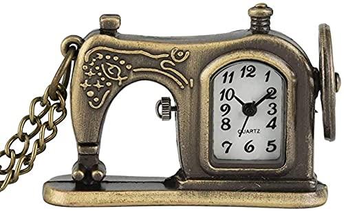 Reloj de bolsillo Reloj de bolsillo clásico, máquina de coser Relojes de bolsillo de bronce para hombres, mujeres, collar, reloj de bolsillo, regalo para la madre, regalo de Acción de Gracias de Navi