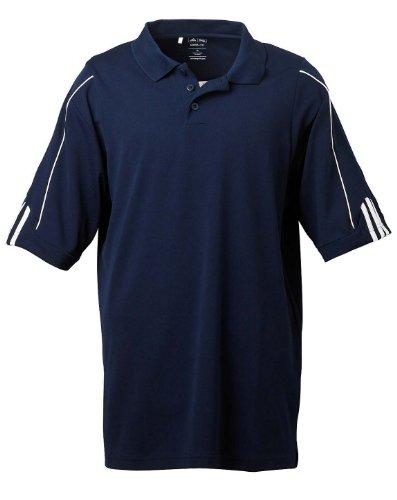 adidas Golf Mens Climalite 3-Stripes Cuff Polo (A76) -Collegiate -2XL