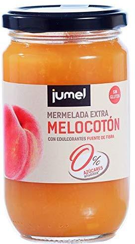 Mermelada sin azúcar Extra Melocotón Jumel. Mermelada con Stevia. Mermelada gourmet, tu desayuno o merienda más saludable, con todo el sabor. Pack de 4 unidades (1,49 €/u).