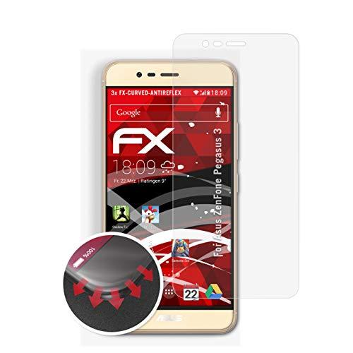 atFolix Schutzfolie passend für Asus ZenFone Pegasus 3 Folie, entspiegelnde und Flexible FX Displayschutzfolie (3X)