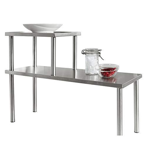 MICHELINO Edelstahl Küchenregal Küchenablage Regal für die Küche silber