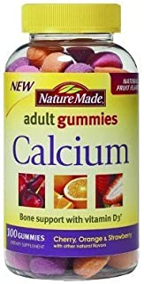 Nature Made Adult Gummies Calcium, Cherry, Orange & Srawberry Flavors, 100 Gummies by Nature Made