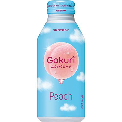 Gokuri ふんわりピーチ 400g×24本 缶
