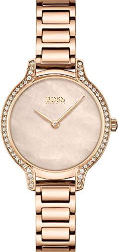 Hugo BOSS Reloj Cosa análoga para De Las Mujeres de Cuarzo con Correa en Acero Inoxidable 1502556