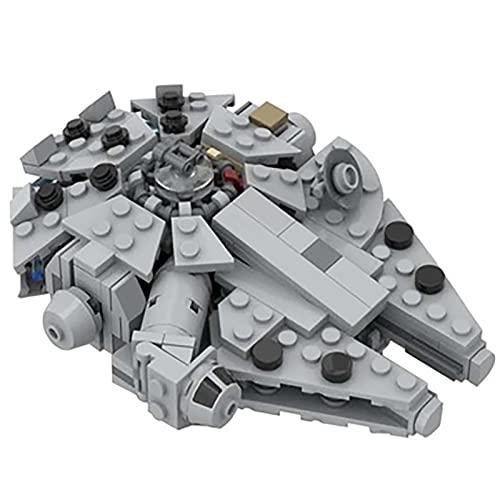 Mini Modelo Nave Espacial Millennium Falcon, 282 Piezas Kit Nave Espacial Modelo de Crucero Compatible con Lego Star Wars