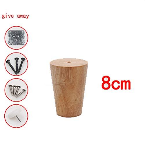 LQ-zhuozitui massief eiken tafelpoten - houten tafelpoten voor bank/tv-kast/nachtkastje/koffietafel/home meubels hout kleur 6-40CM