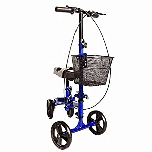 MOBILITY - Knee scooter is made for both indoor and outdoor use COMFORT - Mobility scooters come with hand brakes and a convenient parking brake button. Smooth ride and easy to maneuver STABLE AND LIGHTWEIGHT - The knee walker's sturdy aluminum frame...