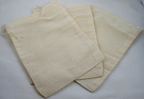 3 Pack of Culinary Muslin Bags, 6x8 inches (Approx.), Teabag, Tea, Herbs