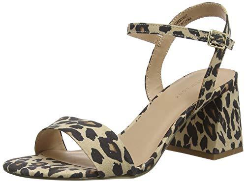 New Look Pan, Zapatos con Tacon y Correa de Tobillo Mujer, Beige (Stone 16), 37 EU