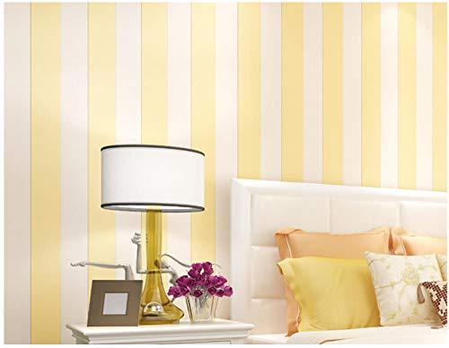Vliestapete Modernen Minimalistischen Mediterranen Stil Vertikale Streifen Tapete Für Bekleidungsgeschäft Hotel Schlafzimmer Wohnzimmer Kinderzimmer 0,53X9.5 M, Gelb