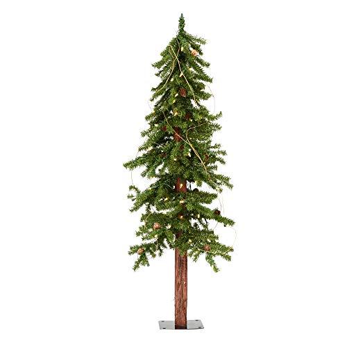 Vickerman Artificial Alpine Pine Cones & Vine Christmas-Trees, 4', Green