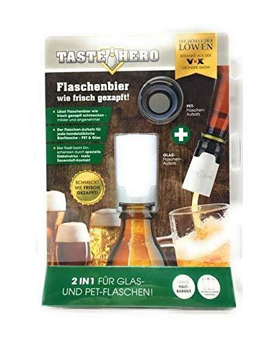 Taste Hero Flaschenaufsatz für Glas und PET Bier-Aufbereiter