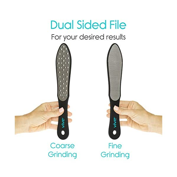 Beauty Shopping Vive Foot File (3 Pack) – Callus Remover Pedicure Tool Kit for Men, Women Care