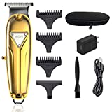 VGR Professional Hair Clippers for Men, Kids & Baby, Cordless Electric T-Outliner Beard Trimmer with T-Blade, Rechargeable Hair Cutting kit & Barber HairCut, Gold