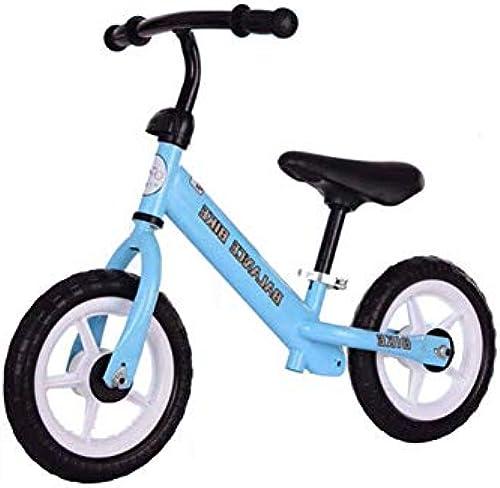 GSDZSY Kinder-Laufrad Für Kinder 10-Zoll-R r Safety First Bike Aus, Sitz Verstellbar, Eva-Rad, 2-6 Jahre,Blau